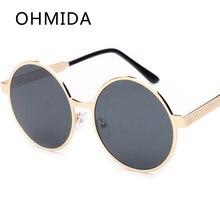 OHMIDA Gafas de Sol Nueva Moda de Verano gafas de Sol de Espejo Redondo Gafas Mujeres Diseñador de la Marca de La Vendimia Oculos femeninas Gafas De Sol