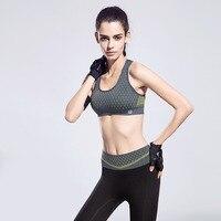 FLANDIS brassiere women Push Up top deportivo Sports Bras Women Sexy Fitness Shake Proof Running Wide Strap Gym Vest