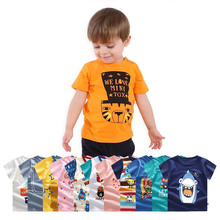 лучшая цена fashion Cotton Baby T Shirt For Summer Boys Girls T-Shirts Unisex Infant Clothes Newborn Tees Cartoon Toddler Tops Kids clothing