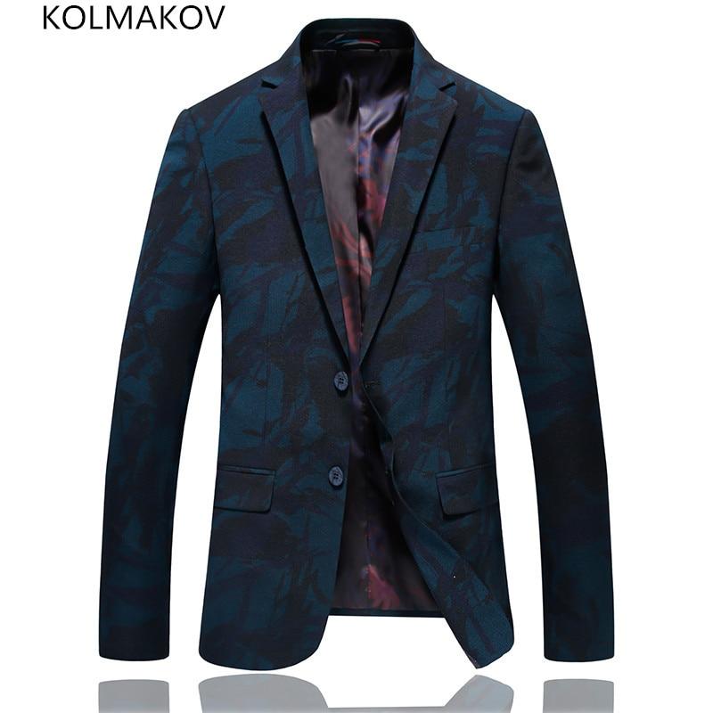 2019 Men Fashion Casual Blazers Man Blue Slim Fit Prom Dinner Suits Mens Male Luxury Dress Men Homme Spring Formal Men's Coats
