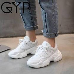 Джип 2019 Бег Женская Осенняя обувь удобные дышащие PU + сетка Туфли без каблуков женские Сникеры на платформе LL-29