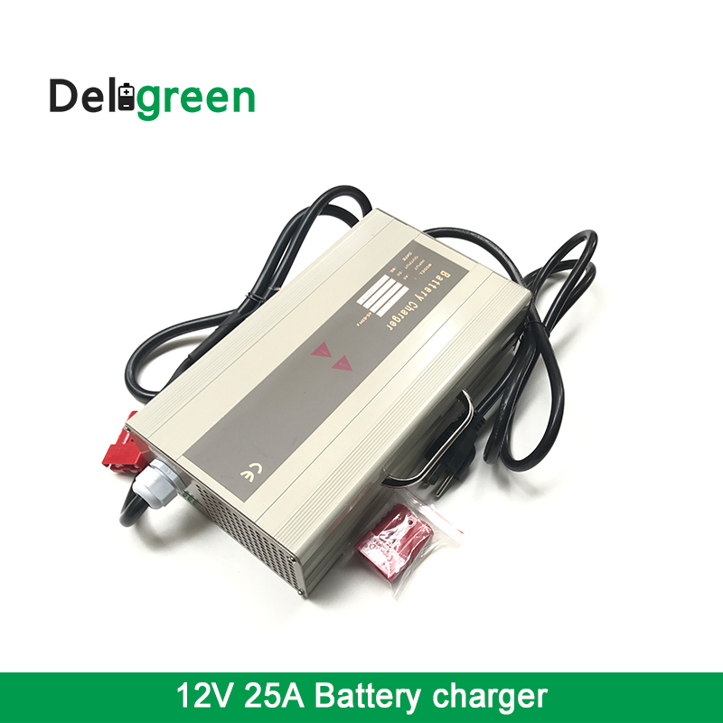 Buy High effeciency LTO 18650 DIY Battery Pack charger 12V 25A for Electric Motorcycle Bicycle LiFePO4 LiNCM li ion lead acid