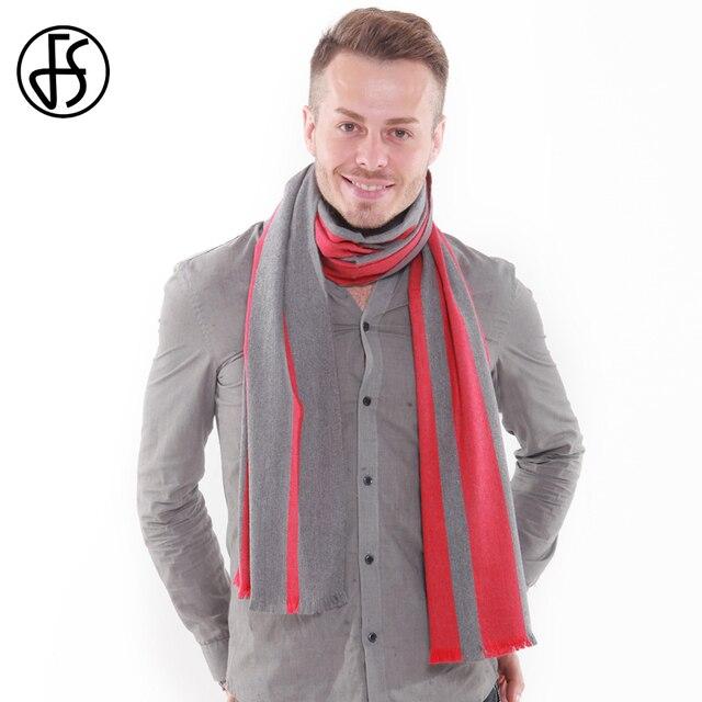FS Echarpe Homme Fashion Cashmere Winter Scarf Men Warm Bufanda Hombre  Striped Soft Wool Shawl Scarves Business Bandana Male 2f55bd6f519