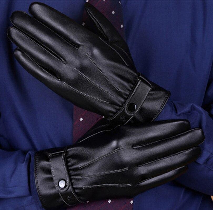 a1b64994a594d Vender bem 2016 nova preto inverno Quente luvas De Couro Genuínos homens de  engrossar luvas de frio luvas de tela de toque masculino em Luvas dos homens  de ...