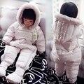 Bebê recém-nascido Snowsuit Pato Para Baixo Romper para Bebês Da Menina do Menino Macacão de Inverno para Crianças Casacos Com Capuz Infantil Bebe Roupas