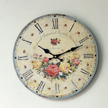 2016 New Arrival Modern Wall Clock Wood Decorative Nostalgic Restaurant Decoration Pendant 0002B6