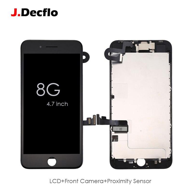Assemblea completa LCD Touch Screen Digitizer Display Per iPhone 8 + Macchina Fotografica Anteriore e Sensore Di Prossimità + Ear Speaker + nessun Tasto della Casa