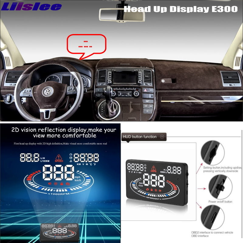 Liislee For Volkswagen VW Transporter T5 - Car security Projection to windshield HUD head up display screen projector ...