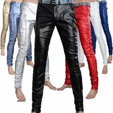 Männlichen mode engen PU lederhose persönlichkeit männer Männer dünne beiläufige hosen dünne jogginghose jogginghose bleistift Hosen, 8 farben