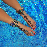 1pcs Hot BOHO Fashion Sexy Luxury Anklet Chain Summer Beach Anklets Bracelet Foot Jewelry For Women Barefoot Sandal