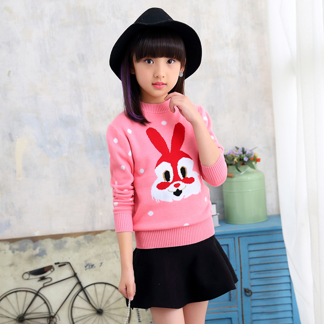 7a6566c22 Winter 2019 New Girl Long Sleeve Knitted Clothes Kids O Neck ...