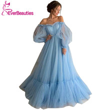 Robe De Soiree Elegant Evening Dress Long Tulle Off The Shoulder Abiye Gece Elbisesi Abendkleider 2019 Formal Dress exhaust pipe tuned pipe for 1 5th rc gas model car fg big monster exhaust tuning pipe free shipping