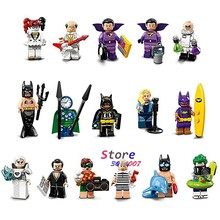 Single Super Hero BATMAN MOVIE Series Hugo Strange Robin Clock King Alfred Joker building blocks toy for children(China)