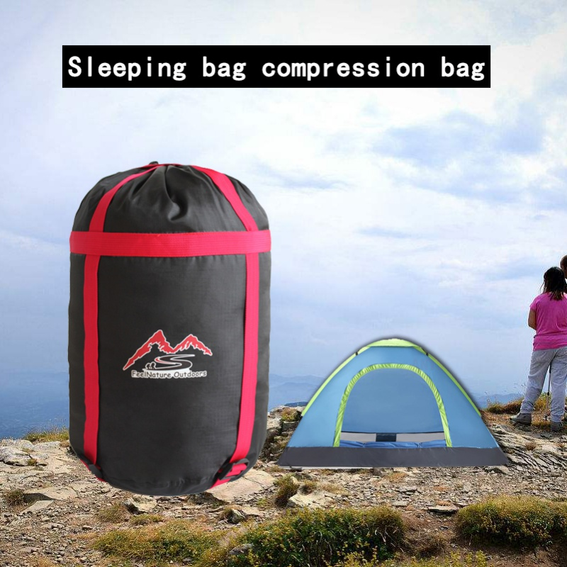 Practical Outdoor Camp Sleeping Bag Storage Pack Carry Bag Oxford Cloth Compression Stuff Sack Waterproof-in Sleeping Bags from Sports & Entertainment
