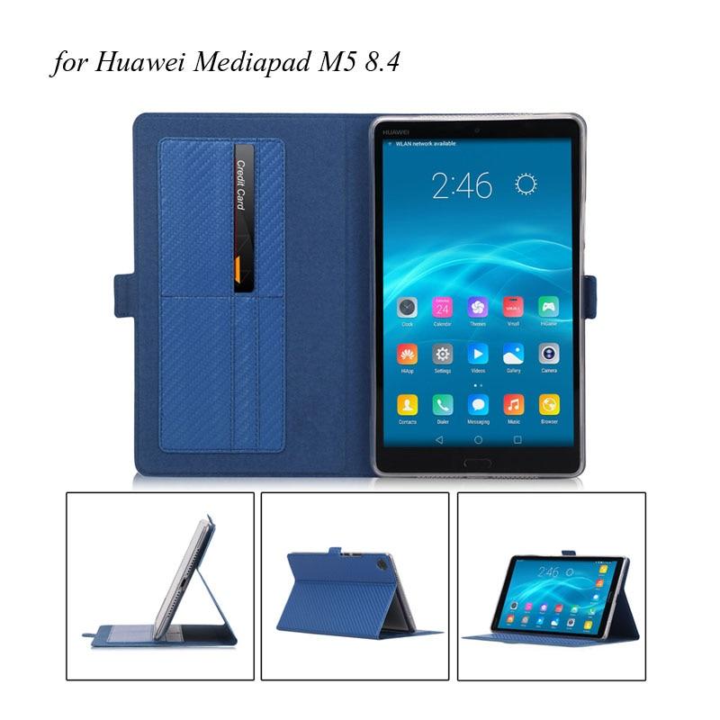 20PCS Lot PU Soft TPU Stand Folio PU Leather Case For Huawei Mediapad M5 8 4