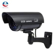 25mm Color Plastic Lens Fake Dummy CCTV Surveillance IR LED Imitation Security Safely Camera With Warning Tape Screw Black