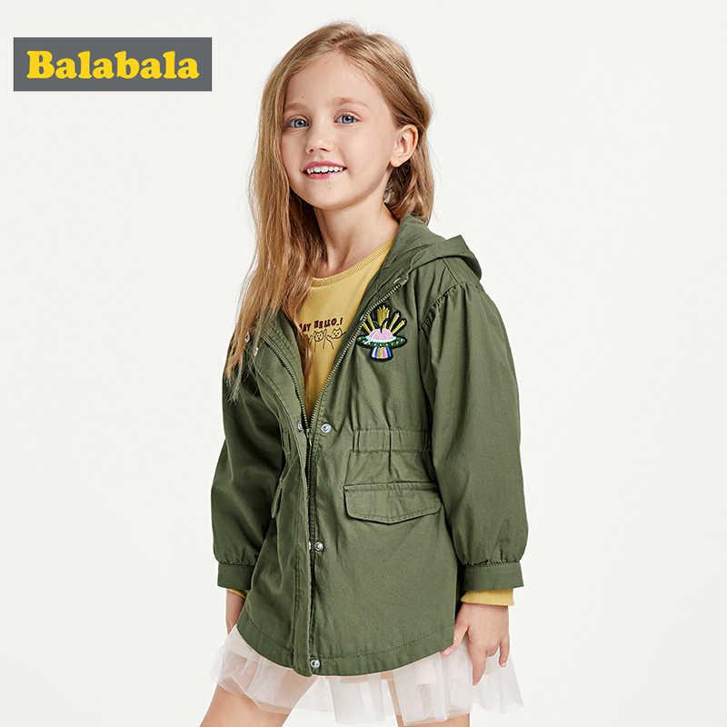 Balabala Langarm Kinder Jacken für Mädchen Baby Bestickt Mantel Kleidung 2-7Y 2019 Kinder herbst Mode Outwear Neue Jacke