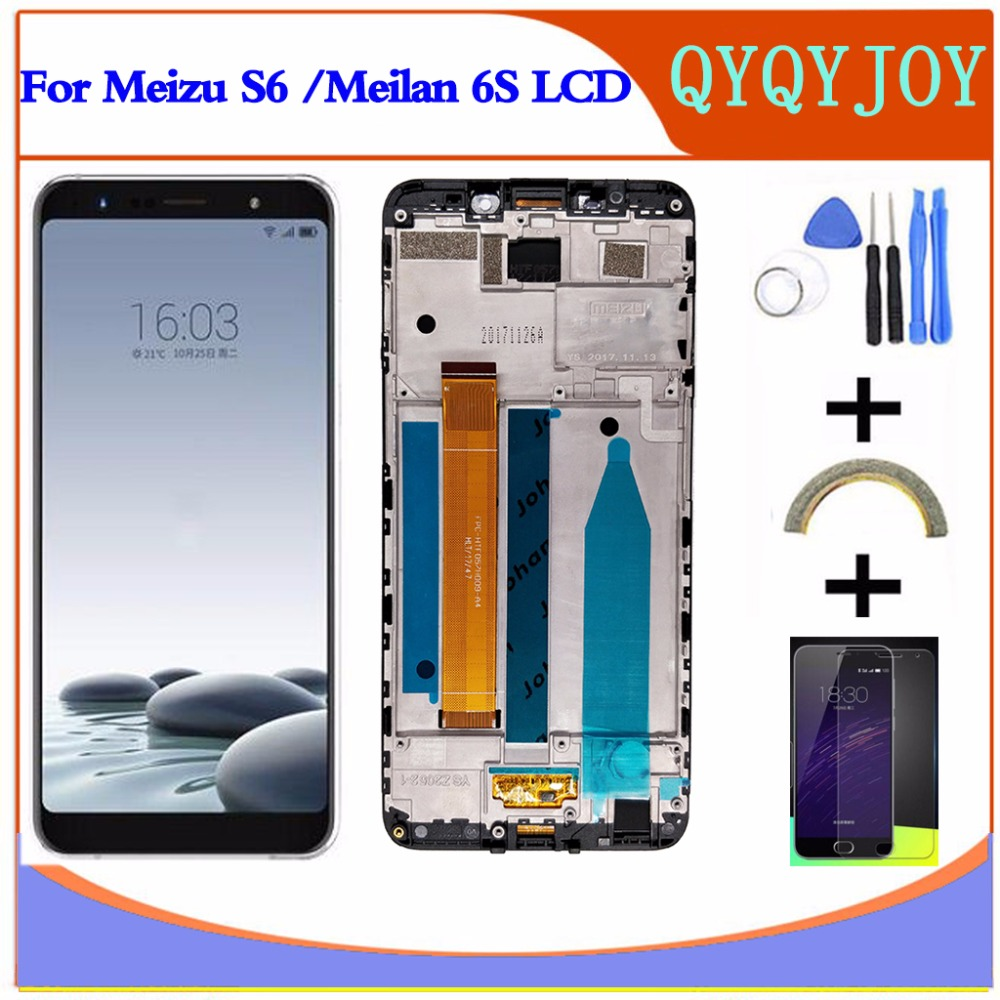 LCD+Frame For MEIZU S6 Lcd Display 5.7 Inch Screen+Digitizer Touch screen Replacement For Meizu MEILAN 6S M712Q LCDLCD+Frame For MEIZU S6 Lcd Display 5.7 Inch Screen+Digitizer Touch screen Replacement For Meizu MEILAN 6S M712Q LCD