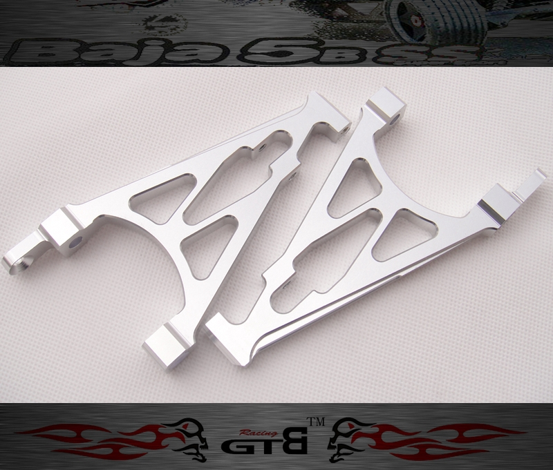 GTBRacing Alloy A Arm FOR hpi km rv baja 5b ss 5t 5sc GR008 gtbracing gtx5 body shell transparent and silver color for hpi km rv baja 5b ss gy009