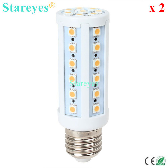 Free shipping 2 pcs E27 E14 B22 SMD 5050 42 led 9W AC110-240V Energy Saving Corn Bulb led Lamp corn light led droplight Lighting