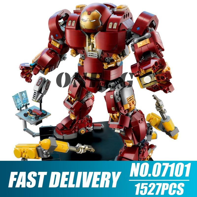 DHL IN STOCK DECOOL Model 7134 1363 Pcs Super Heroes Series Light Bricks The Hulkbuster Ultron