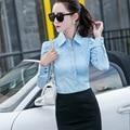 Estilo de La Nueva Manera más el Tamaño 5XL Mujeres de la Camisa Blusas Del Verano Blusa blanca Tops OL Blusa Mujer Camisas Blusas de Algodón marca clothing
