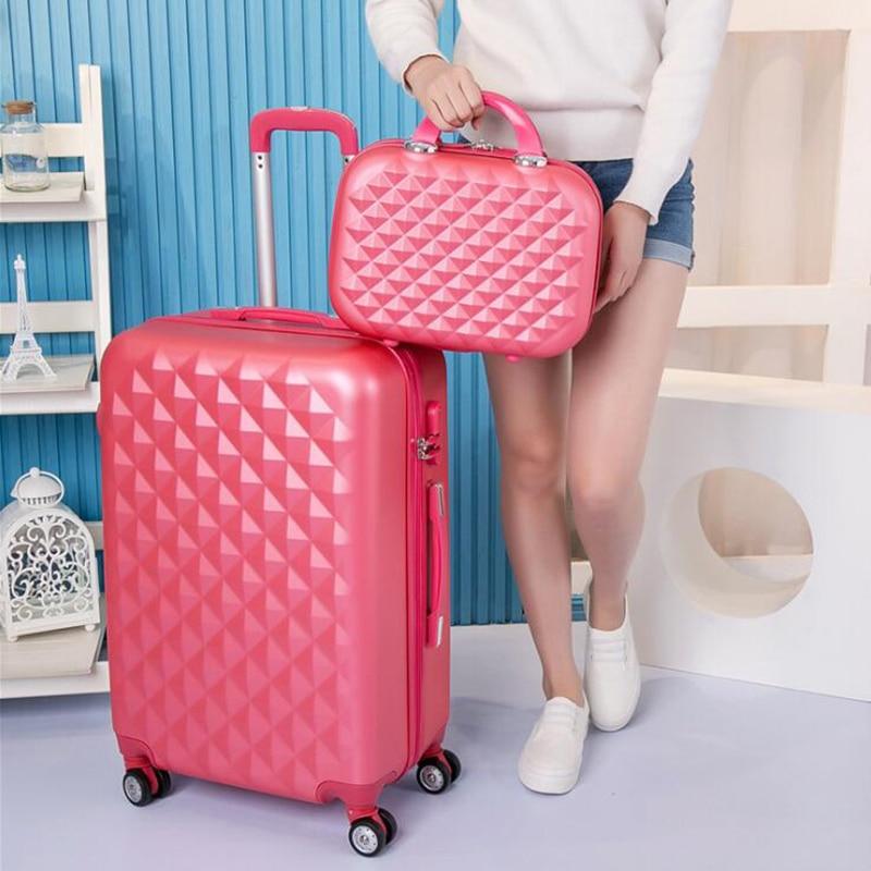 """CARRYLOVE 20 """"22"""" 24 """"26"""" 28 """"frauen gepäck hardside koffer tragen auf trolley fall auf räder-in Rollgepäck aus Gepäck & Taschen bei  Gruppe 1"""