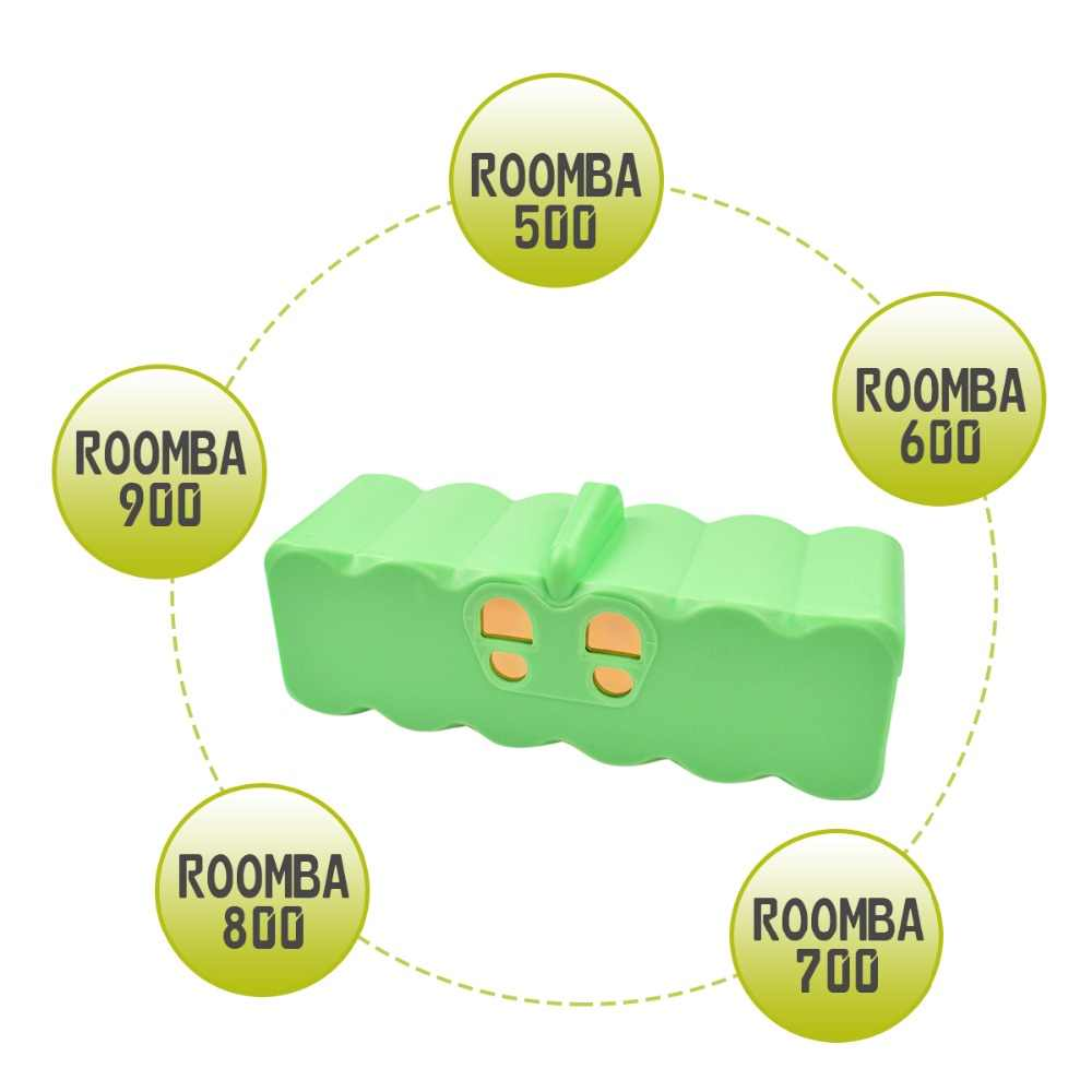 6400 мА/ч, 14,4 V Батарея для iRobot Roomba 500 600 700 800 серии пылесос iRobot roomba 600 620 650 700 770 780 8