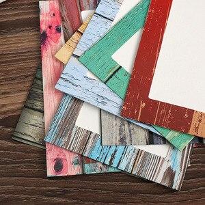 Image 5 - Фоторамка настенная креативная деревянная зернистая бумага подвесной альбом сочетание DIY художественное украшение для гостиной украшение Porta Retrato