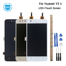 4G Version For Huawei Y3 ii LCD Display+Touch Screen Screen Digitizer Assembly Repair Parts 4.5 Inch+Tool+Adhesive High Quality