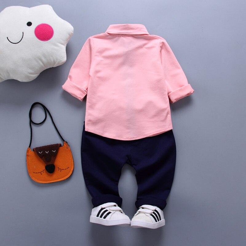 Long Sleeved T-shirts+Pants Two-piece Suit Kids Lapel Polo Shirt Suits Baby Boys Clothes Autumn Sport Leisure Suits 2-3-4-5-6Y