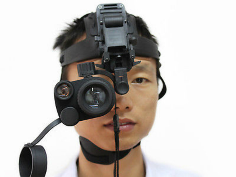 Night Vision IR Goggle BE-55-2 Gen1+1X24 Dark Night Hunting Camera Device Monocular with Helmet 150M Visual Distance