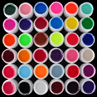 Shellhard 1Set 36Colors Pro Makeup UV Gel Shimmering Nail Art Gel Glitter Polish For Nail Decoration