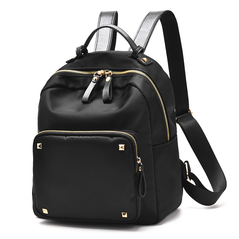 2017 Women Back Pack Bag Japan Korea Teenage Student School Travel Bagpack Girls PU Leather Small Backpack black purple Color