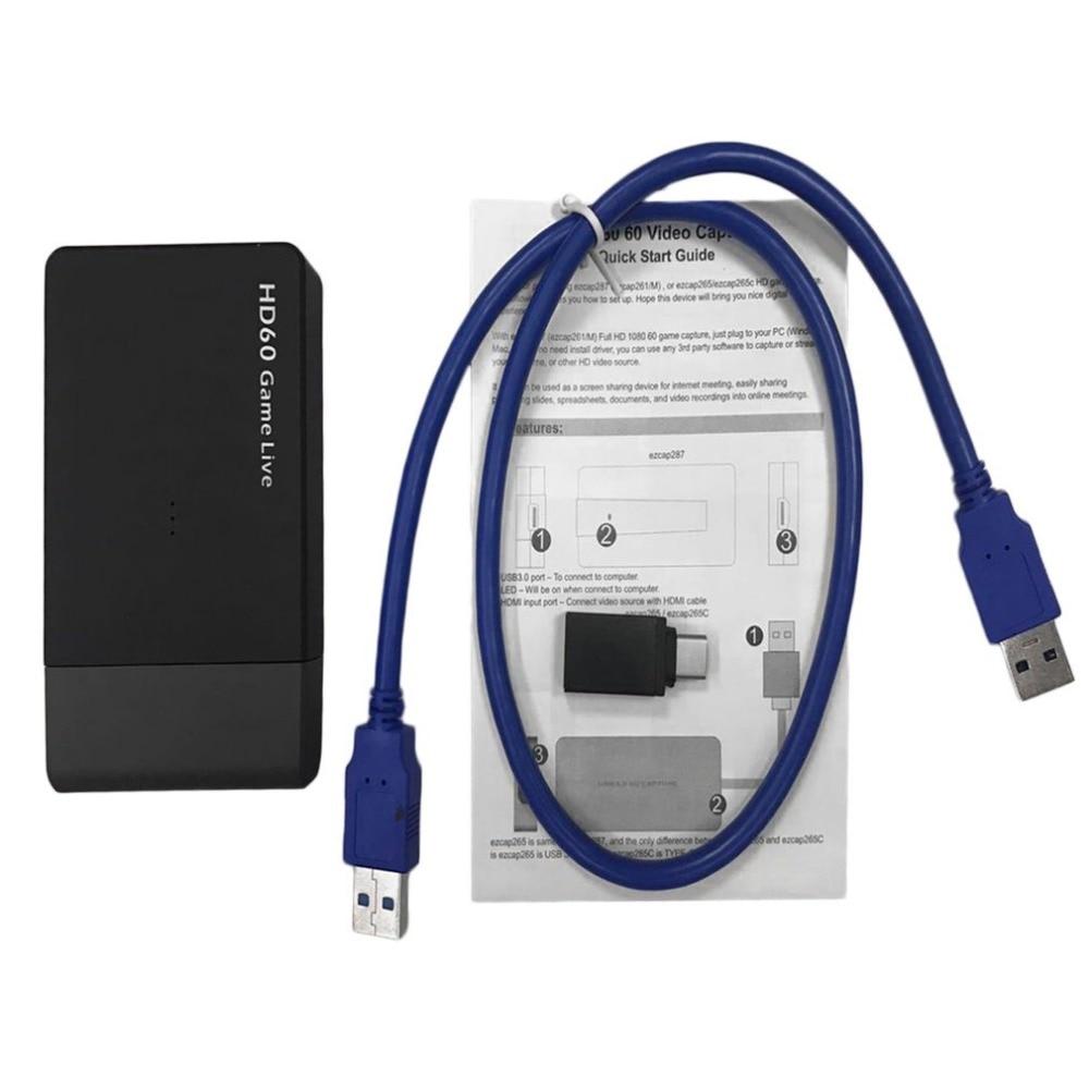 1080 p HD Gioco di Acquisizione Video EZCAP261M Drive USB Libera 3.0 HDMI a HDMI Scheda di Acquisizione Video Box Per XBOX un/360 per PS3/PS4