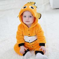 Anime Baby Nemo Clown Kigurumi Pyjamas Neugeborenen Säuglingsspielanzug Tier Onesie Cosplay Kostüm Baby-onepieces Outfit Overall Winter