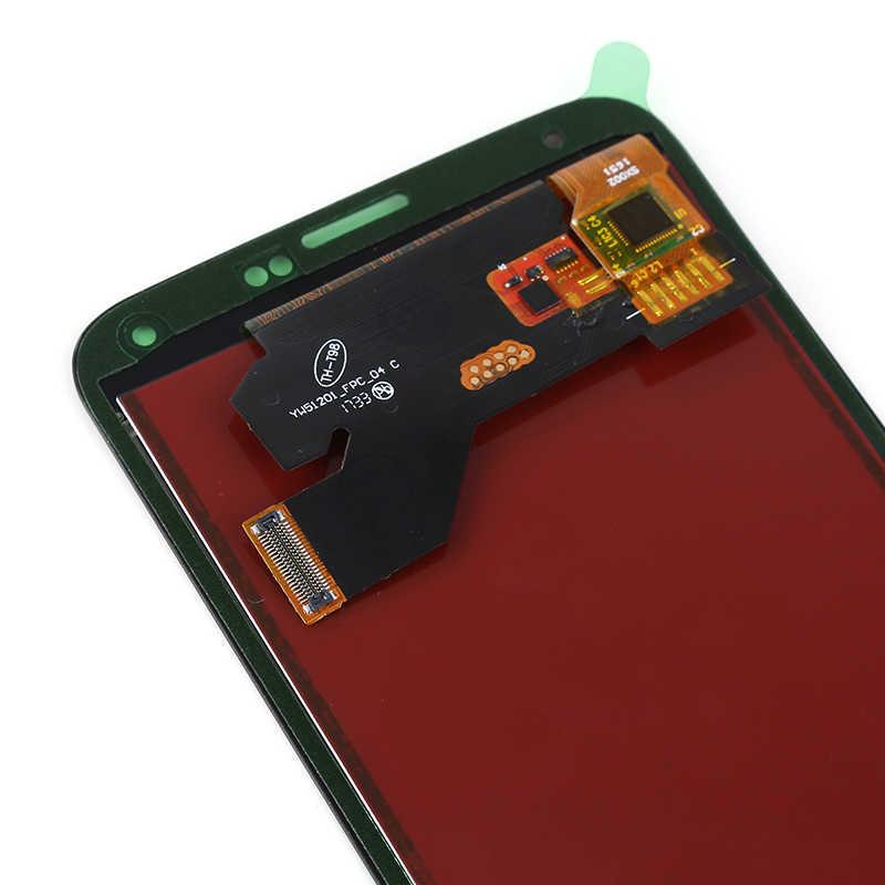 G900F LCD untuk Samsung Galaxy S5 LCD G900M G900A G900T G900FD Layar Sentuh Display LCD Digitizer untuk Samsung S5 LCD tombol Home