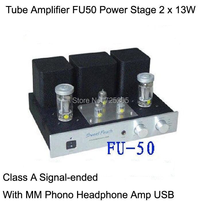 Amplificador de tubo FU50 etapa del poder más elevado 2 x 13 W triodo clase de c