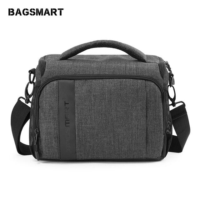 BAGSMART DSLR/SLR Camera Messenger Shoulder Bag Waterproof Digital Camera Case For Canon Nikon Sony Lens Accessories Pouch Bag