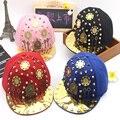 2016 Europe Metal Punk style Kids Baseball Caps Alternative rivets Hip hop Cap snapback hats Baby Boys Girls Peaked cap