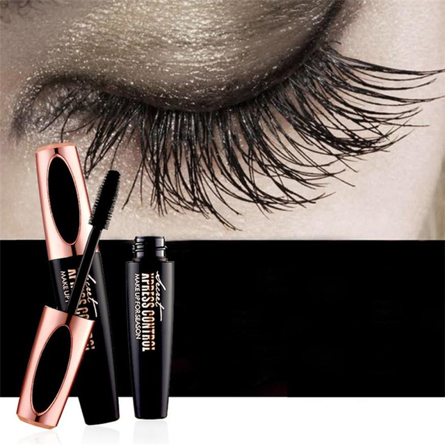 2018 Makeup Eyelash Mascara Eye Lashes makeup 4d silk fiber lash mascara Drop Shipping 3