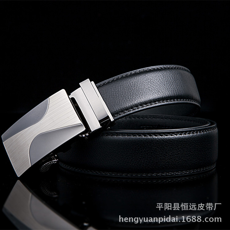 New Men Business Style   belts   Fashion brand Luxury   belts   for men designer   belts   men top quality Automatic Buckle Cowhide   Belts