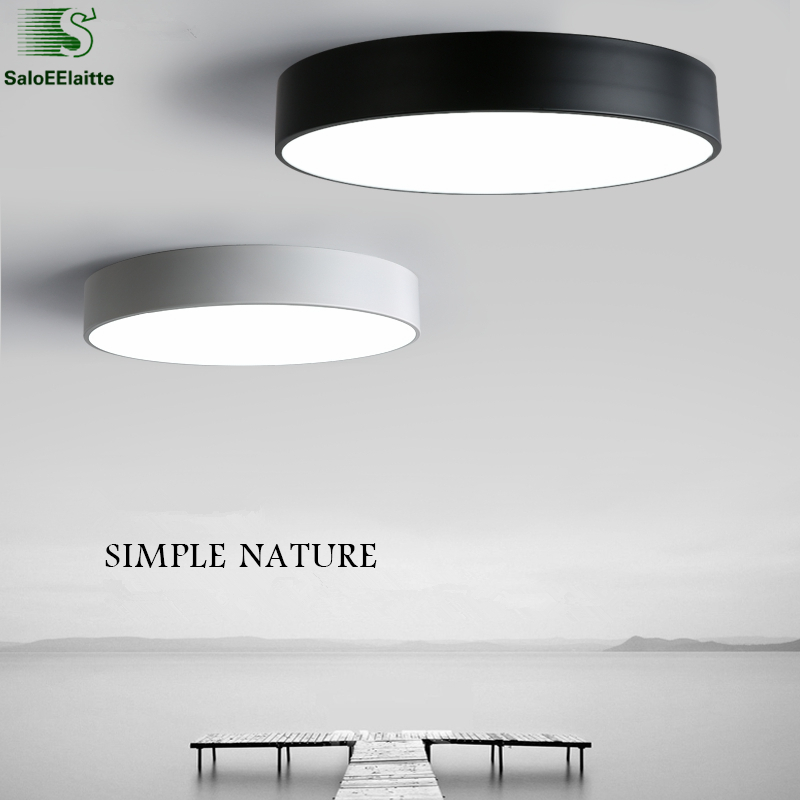 Modern Minimalism Round Metal Dimmable Led Ceiling Lights Acrylic Living Room Led Ceiling Lamp Bedroom Led Ceiling Light Fixture modern minimalism painted metal windmill