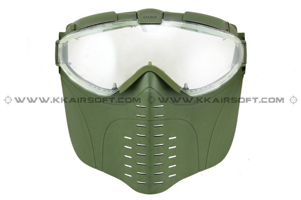 Electric Gas Mask Turbo Fan Full Face Mask OD Green [MK-07-GN]