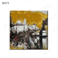 MYT Architectural Landscape Of Shanghai Oriental Oil Painting Abstract Wall Art New Picture Home Paintings Handpainted Pictures