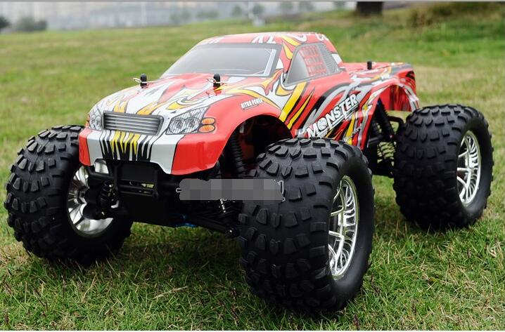 Free Shipping HSP BISON 94188 1/10 Scale 3.0cc Nitro Engine Power 4WD off-Road Monster truck , High speed Rc Car for Hobby 02023 clutch bell double gears 19t 24t for rc hsp 1 10th 4wd on road off road car truck silver