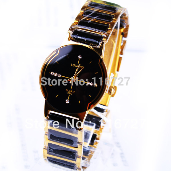 Люксовий бренд Longbo керамічні водонепроникні жінки наручні годинники, Безкоштовна доставка якість жінок Сталь керамічні Rhinestone годинник 8493  t