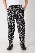 2017 New men's chef pants Kitchen Trouser bottoms ajustable waist with elastic band pants  food service pants  black color