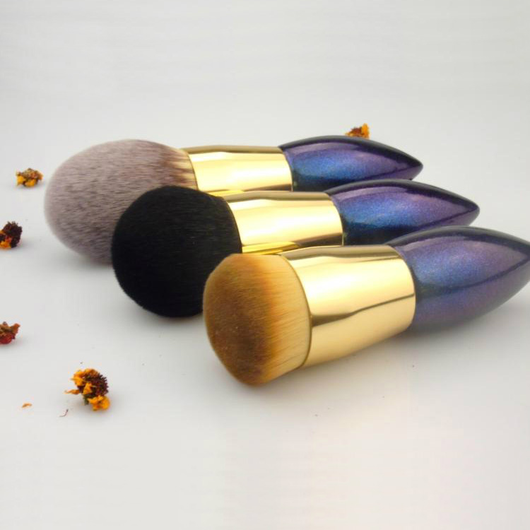 Professional Makeup Brushes Goat Synthetic Hair Face Powder Brush Cosmetic Tools Make Up Foundation Brush professional bullet style cosmetic make up foundation soft brush golden white