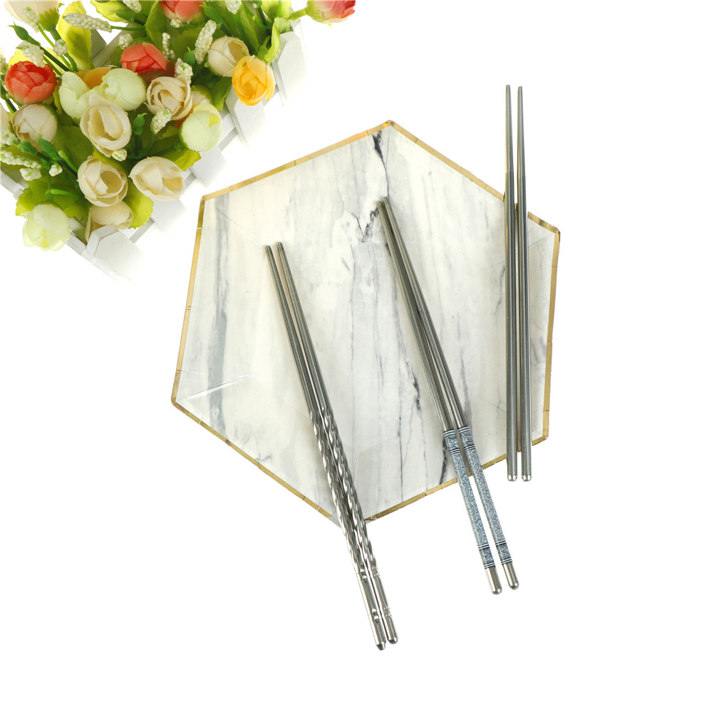 1pairs Stainless Steel Chopsticks 22cm Length White Blue Chinese Traditional Tableware Kitchen Chopsticks Curing Cough And Facilitating Expectoration And Relieving Hoarseness Home & Garden Flatware
